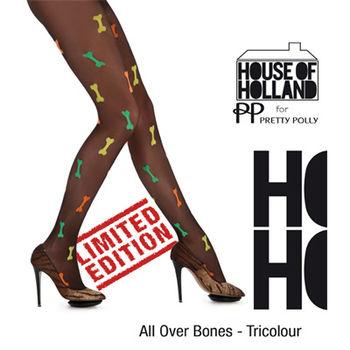 【摩達客】英國進口【House of Holland】彩色小骨頭彈性絲襪
