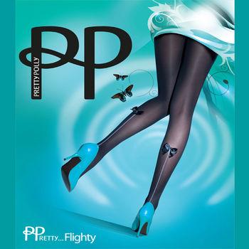 【摩達客】英國進口【Pretty Polly】時尚仿吊襪帶彈性絲襪