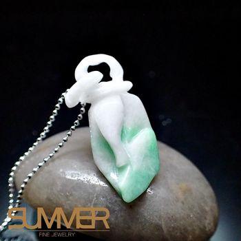 【SUMMER寶石】天然緬甸A貨翡翠如意項鍊(QE-14-隨機出貨)