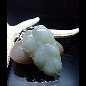 【SUMMER寶石】天然緬甸A貨翡翠一葉致富項鍊(QE-6-隨機出貨)