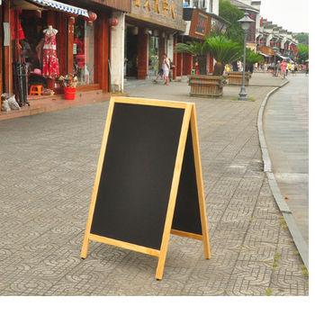[協貿國際]雙面支架式熒光黑板黑板咖啡館酒吧立式店鋪廣告畫板畫架100*60一個價