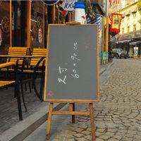 [協貿國際]木質素描畫架實木美術畫板架廣告展示海報架木製展架黑板咖啡色一個價