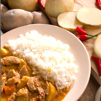 花蓮家咖哩-南洋咖哩料理包二口味8包組(牛*4+雞*4)