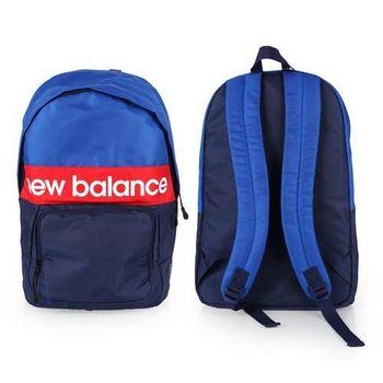 【NEWBALANCE】運動後背包-雙肩包 肩背包 18吋筆電 丈青紅白