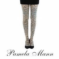 【摩達客】英國進口義大利製【Pamela Mann】自然小豹紋印花彈性褲襪