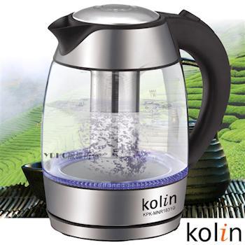 歌林Kolin -1.8L泡茶玻璃快煮壺 KPK-MNR1831G