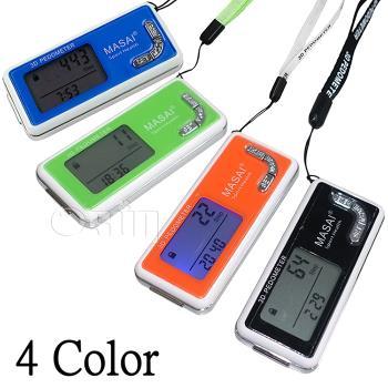 【Osun】背光版3D防潑水計步器 綠色 黑色 橙色 CE-209
