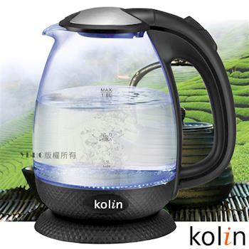 Kolin歌林(1.8L) LED炫彩玻璃快煮壺KPK-MNR1836G