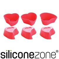 【Siliconezone】施理康心型馬芬巧克力蛋糕杯(6入裝)