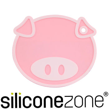 Siliconezone 施理康耐熱矽膠粉紅小豬鍋墊