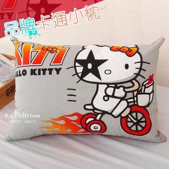 【R.Q.POLO】HELLO KITTY腳踏車 品牌卡通小童枕/兒童枕/枕頭(含枕心)