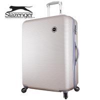 【英國 Slazenger 史萊辛格】 28吋 珠光橫條紋行李箱/拉桿箱/旅行箱(香檳金)
