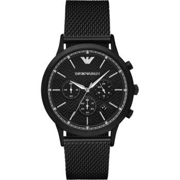 Emporio Armani Classic 都會米蘭計時腕錶-IP黑/44mm AR2498