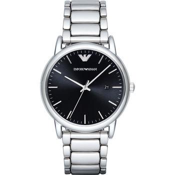 Emporio Armani Classic 都會時尚石英腕錶-黑x銀/42mm AR2499