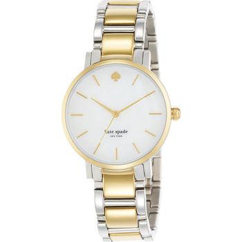 Kate Spade 紐約甜心時尚腕錶-珍珠貝x雙色版/34mm 1YRU0005