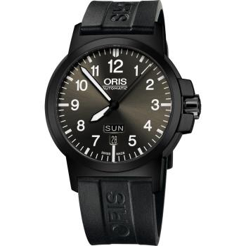 Oris BC3 Advanced 日曆星期機械腕錶-鐵灰x黑/42mm 0173576414733-0742205B