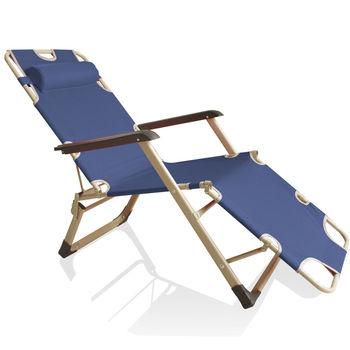 豪華三合一坐躺兩用休閒躺椅(加粗方管)