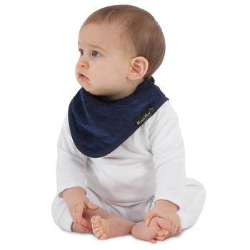 【Mum 2 Mum】機能型神奇三角口水巾咬咬兜-深藍