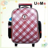 【UnMe】高年級格菱拉桿後背兩用書包(紅色)