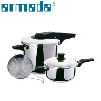 《armada》新白金快易鍋組(壓力鍋) 6.0 L