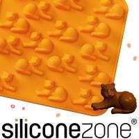 【Siliconezone】施理康ZOO耐熱老虎巧克力模/冰模-橘色