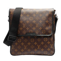 LV M56715 經典Monogram Macassar BASS MM磁釦翻蓋記者包