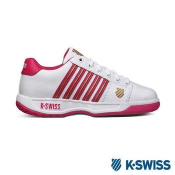 K-Swiss Eadall休閒運動鞋-女-白/紫紅/金