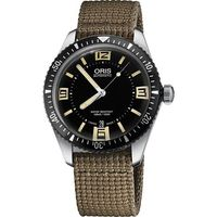 Oris Divers Sixty-Five 1965復刻潛水機械錶-黑x卡其/40mm 0173377074064-0752022