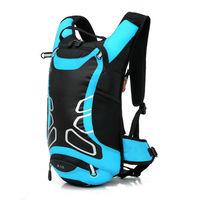 PUSH!登山戶外用品12L登山包背包騎行包自助旅行背包雙肩背包U40湖藍色