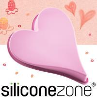 【Siliconezone】施理康耐熱愛心造型大蛋糕模-粉色