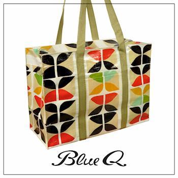 Blue Q 肩背托特包 - Lux懷舊奢華
