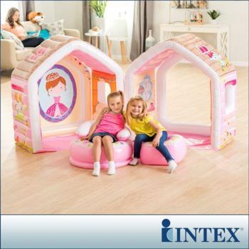 INTEX 公主遊戲小屋/充氣小屋-附充氣椅組(48635)