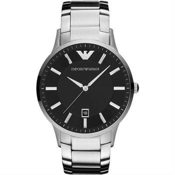 ARMANI Sportivo 時尚腕錶-黑x銀/43mm AR2457