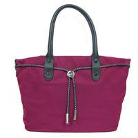 agnes b. 尼龍麻繩束袋手提包(小/紫紅)