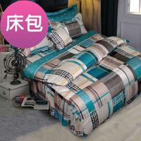 【Novaya諾曼亞】《布列顛郡》絲光棉特大雙人三件式床包組 (綠)