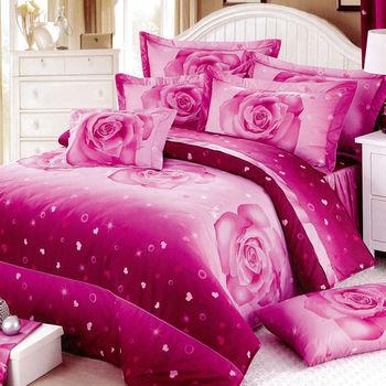 【RODERLY】花嫁系列-精梳純棉 兩用被床罩組 特大八件式-永恆花緣