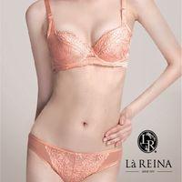 La Reina台灣製 法式優雅•滋養美肌頂級牛奶絲無痕低腰三角內褲 超值5入組 ( 楓葉橘)
