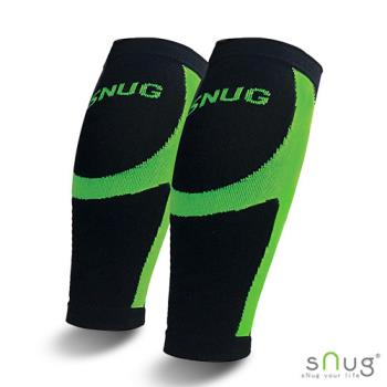 【SNUG運動壓縮系列】 健康運動壓縮小腿套 限量搭贈涼感巾(亮綠 S/M/L/XL/2XL)