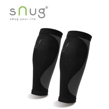 【SNUG運動壓縮系列】 健康運動壓縮小腿套 限量搭贈涼感巾 黑灰S-XXL(C012)