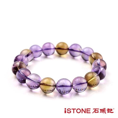 石頭記 天然紫黃晶手鍊-圓珠