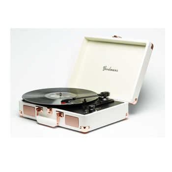 Goodmans Ealing Turntable 英國手提箱黑膠唱片機 - 白色