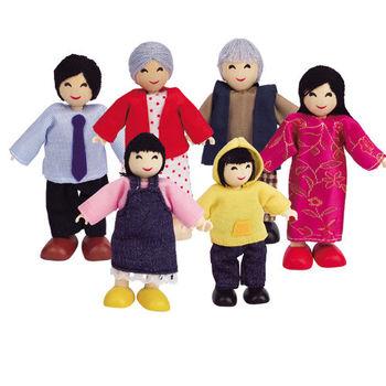 【德國Hape愛傑卡】人偶系列現代家庭-亞洲人