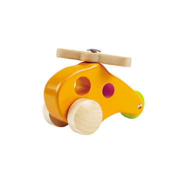 【德國Hape愛傑卡】木製直升機