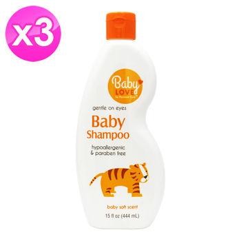 【美國 BABY LOVE】嬰幼兒洗髮精(15oz/444ml) 3入組