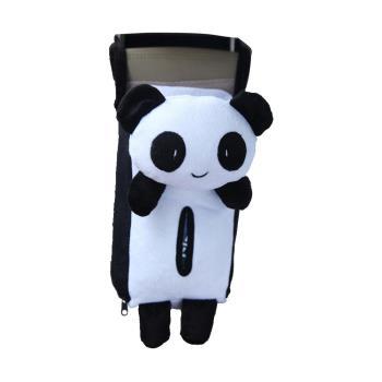 汽車 車用【熊貓 面紙套】吊掛 面紙盒
