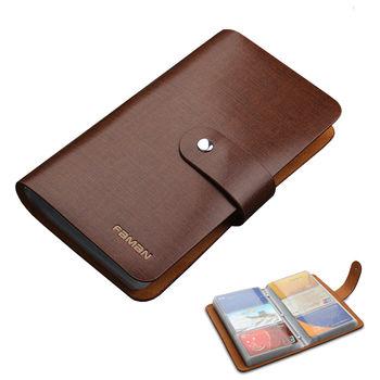 PUSH!精品皮件90卡位真牛皮信用卡夾信用卡包名片夾保護皮套PUSH17典雅咖啡色