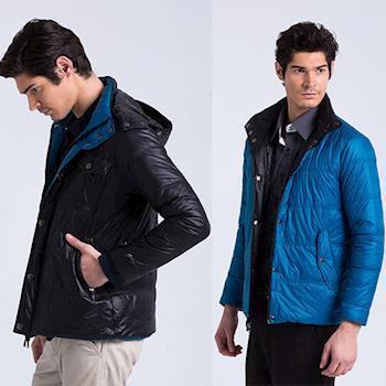 ST.MALO 輕量撞色太陽棉蓄熱雙面穿外套