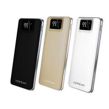 【X-DREAM】MEGA超薄金屬質感 20000型 雙USB輸出 行動電源 數字顯示電量