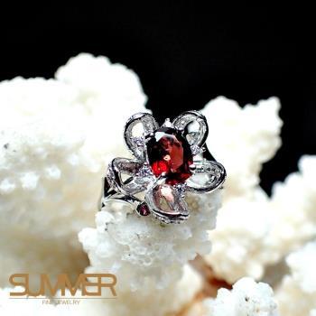 【SUMMER寶石】天然《紅石榴》設計款戒指 (P2-25)