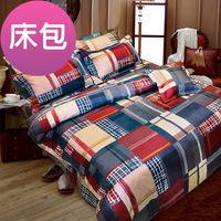【Novaya諾曼亞】《布列顛郡》絲光棉特大雙人三件式床包組 (紅)